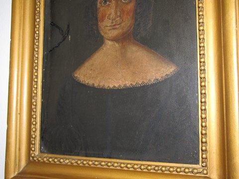 Antik K - Maleri fra 1880-1900 * * Portræt af kvinde i sort kjole