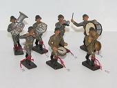 Gamle lineol og elastolin 2 verdenskrig soldater